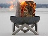 Design-Feuerschale / Feuerkorb aus massivem Stahl Gr. L - von SvenskaV