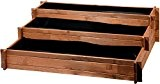 """dobar Drei-Etagen Hochbeet """"Peru"""" aus Holz (Kiefer): Tischbeet Bausatz für Gemüse, Kräuter, Blumen, flexibel platzierbar, braun, 110 x 88 x ..."""