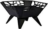 dobar Feuerschale, Feuerstelle, Design für Garten Balkon Terrasse, viereckig für draußen, Stahl pulverbeschichtet, schwarz, 51.5x51.5x30 cm, 35416