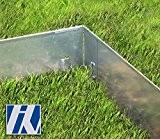 Ecke für Rasenkante Metall 8x8x13,5cm 4er Set