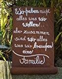 Edelrost Tafel mit Welle Gedichttafel Schild Spruch Metall Wandschmuck