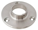 Edelstahl Wandanschluss für Rohr 33,7 mm - V2A