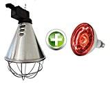 EIDER Infrarot Wärmestrahlgerät inkl. Leuchtmittel ( Birne 150W bereits enthalten ) - Wärmelampe für Tiere