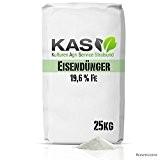 Eisendünger Eisensulfat 25 kg als Rasendünger für einen besonders grünen Rasen zum Streuen mit dem Streuwagen oder Gießen (25kg) - ...