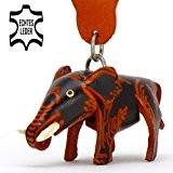 Elefant Benjamin - kleiner Elefanten Schlüssel-Anhänger aus Leder, eine tolle Geschenk-Idee für Frauen und Männer im Zoo-Zubehör, Dickhäuter, Rüsseltier, Arbeitselefant, ...
