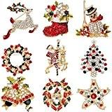 Elegant Rose 9 bunten Weihnachten Brosche Xmas Geschenk für Weihnachtsschmuck Ornaments Geschenke