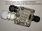 Erweiterungskit PG16/M25 für Verbindungsbox klar, Kabelverbinder 3-/5-polig, inkl Dichtungen - wird benötigt um Kabel mit bis zu 16mm Durchmesser anschliessen ...