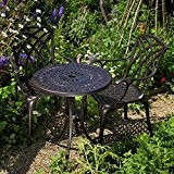 Eve 60cm Bistrotisch - 1 Eve Tisch + 2 APRIL Stühle
