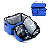 FakeFace Eistasche Kühltasche Tasche Milch Transportieren Picknicktasche Thermotasche Picnic Lunch Cooler Bento Box Ice Bag Camping (Dunkelblau)