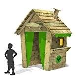 FATMOOSE Spielhaus PandaPark Pro XXL Kinderhaus Holz Spielplatz Garten mit Schornstein, Fenster und Ladentheke