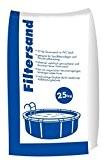 Filtersand 25 kg Sack 0,4 - 0,8 mm für Sandfilteranlagen und Poolfilter