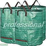 GardenMate® 3x Gartensack 272l PROFESSIONAL aus robustem Polypropylen-Gewebe (PP)