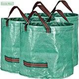 GardenMate® 3x Gartensack 60l aus robustem Polypropylen-Gewebe (PP) 150gsm