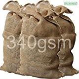 GardenMate® 3x Jutesack PREMIUM 135 cm x 65 cm aus 340gsm Jute ...