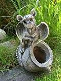 Gartenfigur Drachenbaby mit Pflanztopf Deko