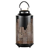 Gartenwindlicht Motiv: New York, 42cm grosses Windlicht Metal Laterne (1)