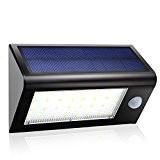 GDEALER 32 LED Solar Wandleuchten 400 Lumen Outdoor Wasserdicht 3 Modi Dim Garten Solarleuten mit Bewegungsmelder für Innenhof Sicherheit Treppe ...