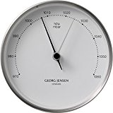 Georg Jensen Indoor-Barometer HK Edelstahl-Weiß (10cm)