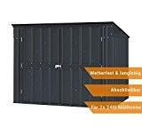 Globel Industries Metallgerätebox und Mülltonnenbox 5x3 Anthrazit // 174x101x132 cm (BxTxH) // Aufbewahrungsbox und Gartengerätebox