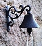 Glocke Türglocke Landhausstil Gusseisen Metall antik Deko (Antik)