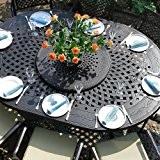 Gloria 210 x 150cm Ovales Gartenmöbelset - 1 GLORIA Tisch + 8 APRIL Stühle