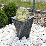 Granit Springbrunnen SB17 mit drehender Kugel LED Beleuchtung Wasserspiel