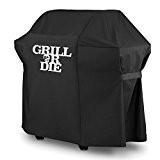 GRILL OR DIE® GT52 Grillabdeckung für Weber Spirit Gasgrill ★ schwarz mit Aufdruck in Premium-Qualität ★ BBQ Grill Schutzhülle - ...