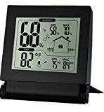 Habor Digital Wireless Thermo-Hygrometer Feuchtigkeitsmesser Hygrometer Feuchtesensor Monitor Raumklimakontrolle Raumluftüberwachtung mit Wecker, Min/Max und LCD Schirm (°C/°F) für Schlafzimmer, Büro,