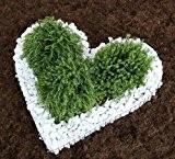 Herz-Gitter mit Zierkies Carrarra weiß Grabschmuck