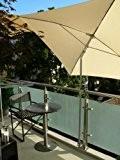 HOLLY ® - BALKON - SONNENSCHIRMHALTER - 1 x Universal Halterung 360 ° drehbar - mit Edelsthalhülse für SCHIRMSTÖCKE von ...