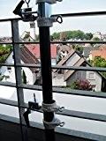 HOLLY - BALKONHALTERUNG FÜR SCHIRM STÖCKE von 25,5 bis Ø 55 mm - 2 Stück - BALKONSCHIRMHALTER - GROSS - ...