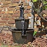Holz Design Springbrunnen DSB1 für Balkon Terrasse Garten Gartenspringbrunnen