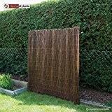 Homestyle4u Sichtschutz Sichtschutzmatte Weidenmatte Weidenzaun Gartenzaun Windschutz 500 cm x 150 cm