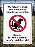 Hundekot Schild - Bitte entfernen Sie..! (DIN A4 21 x 29,7 cm)