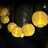 ILUXUS® 2nd Generation Premium Qualität 20er LED Solar Lichterkette Lampions Garten Außen Innen 15.7ft/4.8M warmweiß Laterne Innen- und Außenbereich[Energieklasse A+++] ...