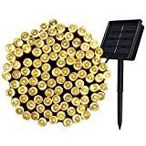 InnooTech 200er LED Solar Lichterkette Garten Außen Licht Warmweiß 20M, 8 Modi Dekorative Beleuchtung für Terrasse, Party, Hochzeit, Camping, Weihnachten, ...