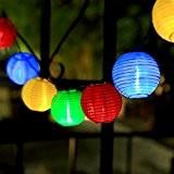 InnooTech Solar Lichterkette Lampion 30er LED 6 Meter Laterne Gartenbeleuchtung Innen- und Außenbereich mit Batteriehalter für Weihnachten, Party, Hochzeit, Deko, ...