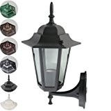 Jago Außenleuchte Lampe Laterne E27, max. 60W mit Glaseinsatz im Antik-Look ( höhe ca. 36cm - Spannung 110V-240V ) mit ...