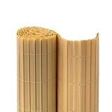 JAROLIFT Premium PVC Sichtschutzmatte / Sichtschutzzaun 180 x 300cm, bambus