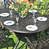 Jessica 180 x 120cm Ovales Gartenmöbelset Alu - 1 JESSICA Tisch + 6 APRIL Stühle