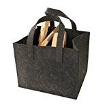 Kamino-Flam Kaminholztasche 339501 aus hochwertigem Filz, sehr robust trotz des geringen Gewichts, Allzweckkorb mit vielen Einsatzmöglichkeiten, schonendes Material für jeden ...