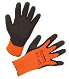 Kerbl 297382 PowerGrab Thermo Strickhandschuh Latex mit Acrylfutter Größe: 8, orange
