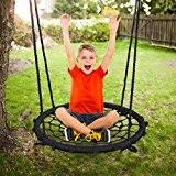 Kinderschaukel Tellerschaukel ca. 90 cm, Schaukelkorb (Tragkraft ca. 100 kg)