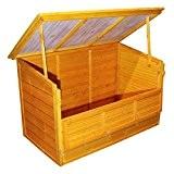 Kissenbox / Gartenbox aus Holz für Sitzauflagen Volumen 600 Liter