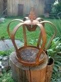 Krone Lilie, Edelrost Metall Deko Krone, Gartendekoretion