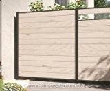 Kunststoffzzaun, WPC System Set sand mit 178x183cm - Sichtschutz, Sichtschutz Elemente, Sichtschutzwand, Windschutz, Sichtschutzzäune