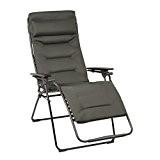 Lafuma Großer Relax-Liegestuhl, Klappbar, Stufenlose Verstellung, Stahlkonstruktion, Air Comfort, Futura, Farbe: Taupe, LFM3096-6895