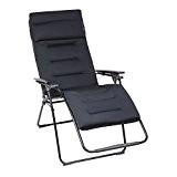 Lafuma Großer Relax-Liegestuhl, Klappbar, Stufenlose Verstellung, Stahlkonstruktion, Air Comfort, Futura, Farbe: Anthrazit, LFM3096-6135