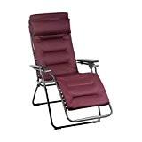 Lafuma Relax-Liegestuhl, Klappbar, Stufenlose Verstellung, Stahlkonstruktion, Air Comfort, Futura, Farbe: Bordeaux, LFM3051-3186
