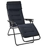 Lafuma Relax-Liegestuhl, Klappbar, Stufenlose Verstellung, Stahlkonstruktion, Air Comfort, Futura, Farbe: Dunkelblau, LFM3051-6135